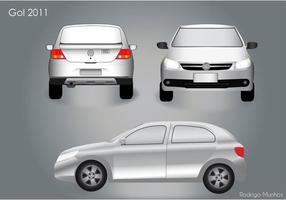 VW Gol 2011 Auto Vektor Pack