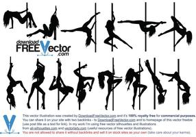 Vector Pole Dance Silhouette