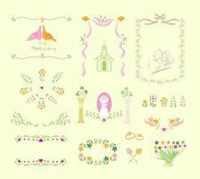 Hochzeit Vector Elements Pack