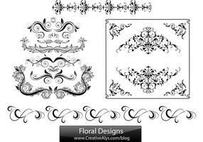 Bloemenontwerpen voor logo's, web en grafieken