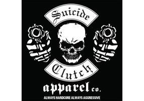 Cráneo con el diseño de la camiseta del vector d