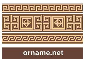 Libre griego Vector Ornament - Meander Borders