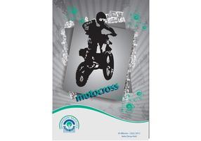 Motocross-Vektor