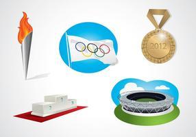 Vetor de elementos olímpicos