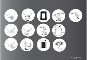 Creative COW Vector Icons