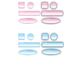 Free Glass Buttons Vectors and Bars