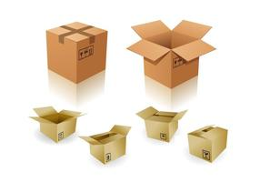 3D Packaging Vector Mockups