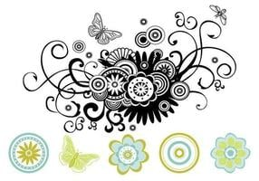 Blumen-Strudel-vektor-Satz