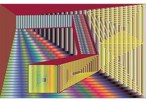 RACKEL VIERKANTEN - Abstracte Vierkante Vector