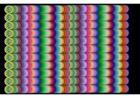 RAINBOW TUBE GRID - Abstract Rainbow Background Vector