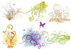 Arabescos Swirl Flourish Vector