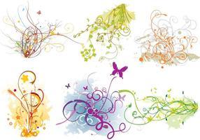 Arabescos Swirl Flourish Vector