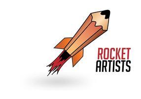 Rocket Artists - Rocket Logo Vector