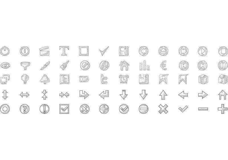 Free-doodle-icons-vector-set