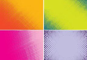 Four Backgrounds Halftone Color
