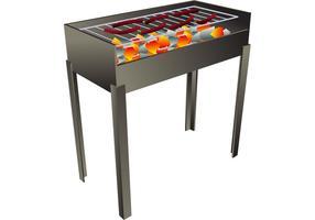 Vector Barbecue avec de jolies saucisses épicées