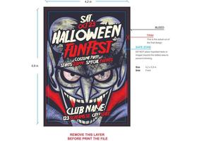 Vampire Halloween Flyer Template