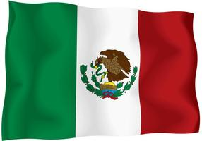 Mexico Independence Day flying Flag Vector