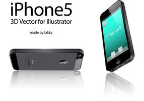 iPhone5 3D Vector for illustrator
