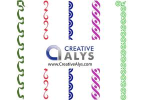 Vetores de borda criativos, quadros e vetores de canto