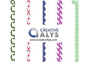 Creative Border Vektoren, Frames und Corner Vectors