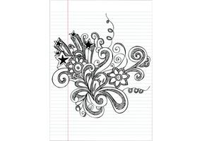 Hand gezeichnet Notebook Doodle Blume Vektor-Illustration