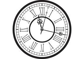 Vintage Old Clock Vector