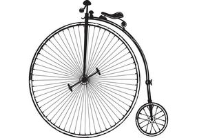 Vector de la bicicleta de la vieja manera