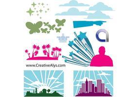 Éléments pour le logo, le Web et le graphisme