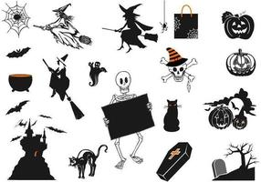 Paquete de vectores de halloween fantasmagórica