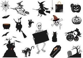 Spöklikt Halloween vektorpaket