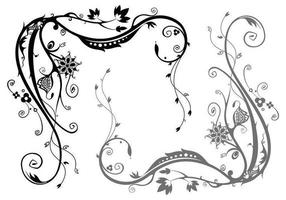 Floral Swirl Vector Pack