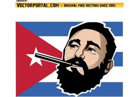Fidel Castro Vector Illustration