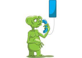 ET Vektor haben Telefon