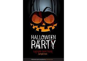 Halloween Vector Party template