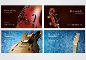 Ensemble de cartes de visite pour les musiciens