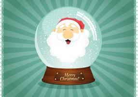 Vettore del globo della neve della Santa