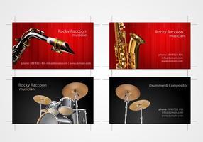 Musiker Visitkort Set