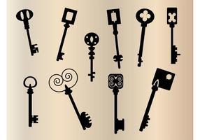 Gamla nycklar silhuett