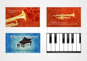 Ensemble de cartes de visite des musiciens 3