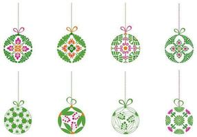 Dekorativ julboll Ornament Vector Pack