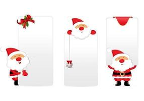 Santa Tags and Labels Vector Pack