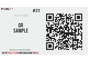 Free Vector of the Day #211: QR Sample