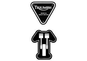 Vector do logotipo da motocicleta Triumph