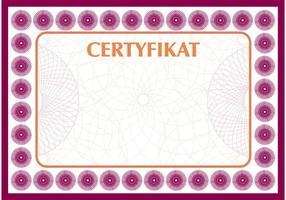 Certificaat Vector Certyfikat