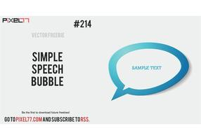 Free Vector of the Day #214: Simple Chat Bubble