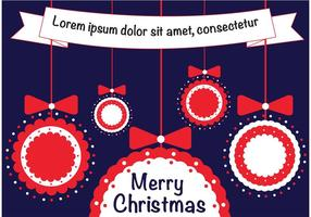 Boules de Noël avec ruban