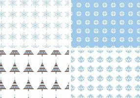 Nahtlose Holiday Vector Pattern Pack