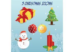 5 Kerstmis Vector Pictogrammen
