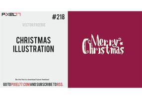 Free Vector of the Day #218: Christmas Illustration